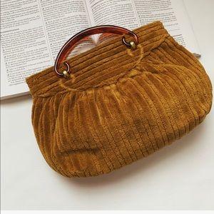 Vintage Ochre Chenille Handbag